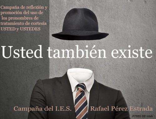 """Campaña de reivindicación del uso del pronombre """"Usted"""""""
