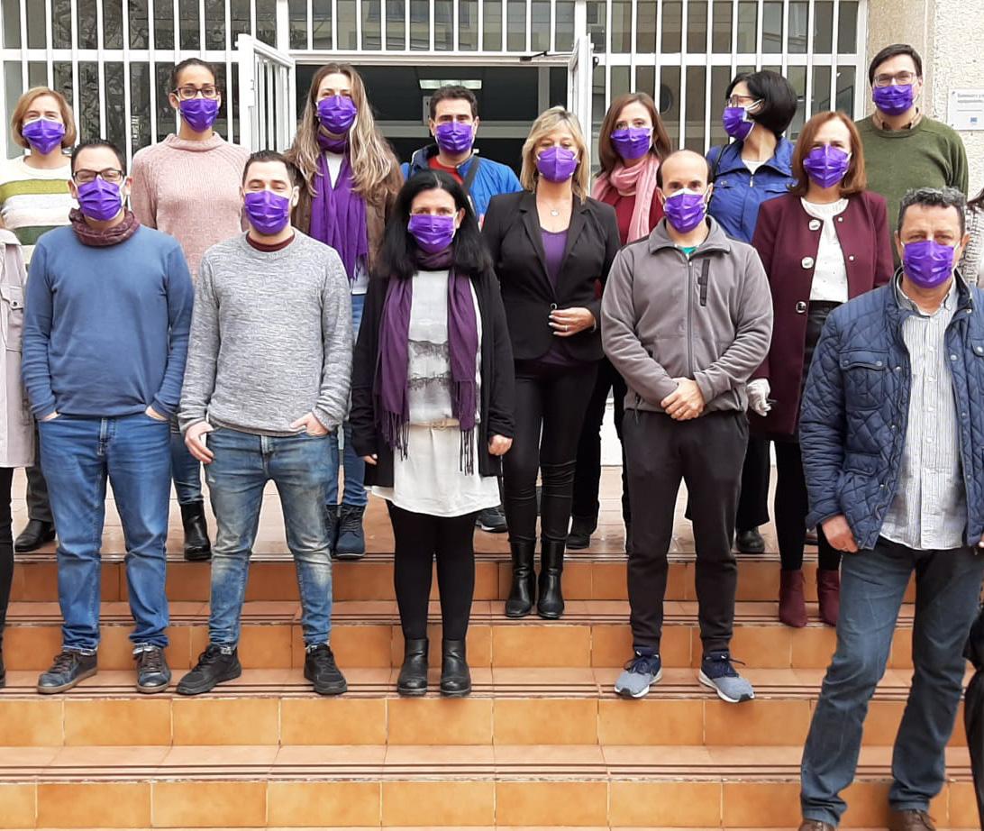 25 de Noviembre. Mascarillas violetas en el iesrpe